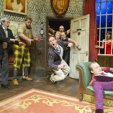 Mischief Theatre Original Cast performing The Play That Goes Wrong